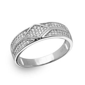 Other - Silver 925 Diamond Accented Band with CZ